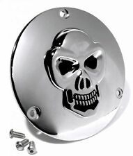 Derby cover embrague tapa cromo 3-d Skull para Harley Big Twin Chopper bike