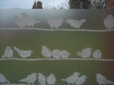 DC FIX STATIC CLING BIRDS PRIVACY FROSTED GLASS WINDOW EFFECT VINYL FILM