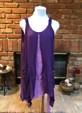 Vintage Hi Low Hi Lo Renn Faire Festival Layered Hippie Boho Peasant Dress sz L