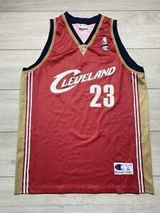 VTG Champion Lebron James 23 Cleveland Cavalier Basketball Jersey Vest XL Red