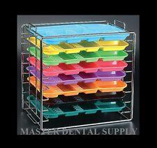 Instruments Set Up Dental Tray RACK Organizer Holds 8 Trays B Size CHROMA