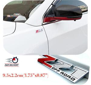 1pcs  Z71 Off-Road Rear Trunk Emblem Door Fender Sport Badge for GMC Chevy Red