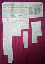 NEWSPAPER CLIPPINGS - DEATH OF MARTIN LUTHER KING, Jr.- APRIL 5, 1968