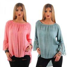 Normalgröße 3/4 Arm Damenblusen, - tops & -shirts aus Viskose