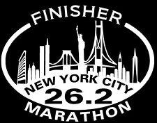 2019 any year New York City Nyc Marathon Skyline Decal iPad,Luggage,CarWindow