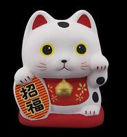 Hucha Gato Japonés Suerte 10cm Cerámica Fabricado en Japón Maneki Neko 40587