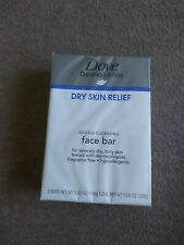 Dove Derma Series Dry Skin Relief Gentle Cleansing Face Bar Soap 2 Bar Pack