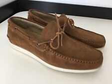 Hugo Boss Orange Men's Deck Shoes, Moccasins, Uk 9 Eu43, Brown Suede, NEW