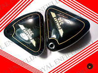NEW ROYAL ENFIELD GENUINE BLACK PAINTED CURVED LID TOOL BOXES PAIR ELECTRA