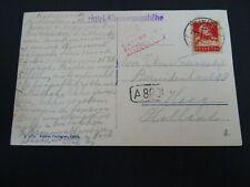 Nederland ansichtkaart Zwitserland - Den Haag PER LUCHTPOST AANGEBRACHT 1928