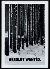 cartolina pubblicitaria PROMOCARD n.3950 ABSOLUT WANTED VODKA collection n.225