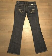 Frankie B Ultra Lowrise Flare Leg Stretch Denim Jeans Embroidered Woman's Size 6