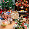 40-100mm Clear Plastic Christmas Ball Fillable Baubles Sphere Xmas Tree Ornament