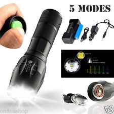5000 Lumens T6 LED Zoomable Flashlight Waterproof Torch Light Lamp 18650 Charger