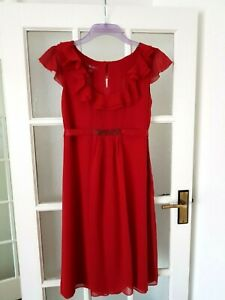 MONSOON  Cocktail Hour  Pure  Silk  Red Dress Size 14 BNWT