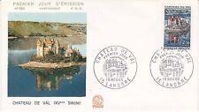 Enveloppe Maximum 1er jour FDC n°582 - 1966 : Château de Val Lanobre