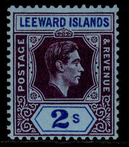 LEEWARD ISLANDS GVI SG111, 2s reddish purple & blue/blue M MINT. Cat £32. CHALKY