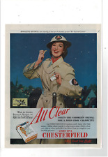 1942 SATURDAY EVE POST CHESTERFIELD CIGARETTES ROSALIND RUSSELL AD PRINT H150