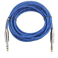 6.35mm 1/4'' Jack Male Stereo Audio Cable Lead for Amplifier Instrument 5m