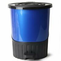 14Litre Medium Rainbow Blue H: 33cm Useful Office Dustbin Recycle Waste Disposal
