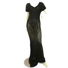 GIANFRANCO FERRE Crochet Knit Maxi Dress with Internal Bodysuit