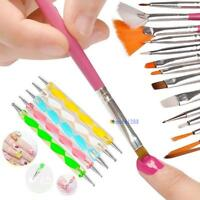 20X Nail Art Design Set Dotting Painting Drawing Polish PINK Brush Pen Tool MT