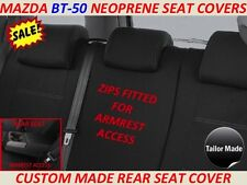 MAZDA BT-50 MK2 (UR) CUSTOM MADE REAR NEOPRENE SEAT COVER ( WETSUIT MATERIAL )