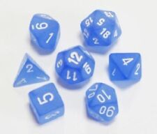 Dungeons & Dragons Fantasy 16mm 7 Piece Dice Set: Frosted Blue 27406