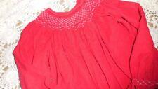 euc Mom & Me red cord smocked seed pearl holiday bishop dress girls 5 free ship