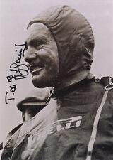 """BARONE Emmanuel 'toulo """"De Graffenried"""" Swiss F1 driver in persona FOTO AUTOGRAFATA"""