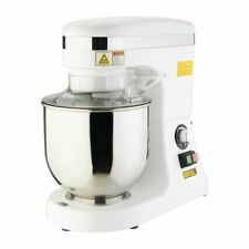 Buffalo Planetary Mixer in White - Metal Body - Removable Funnel - 7L