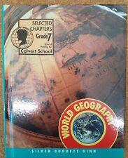 Calvert School World Geography Grade 7 Book. Text book college guide hardback