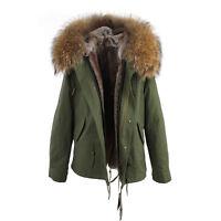 Luxury Colored Hood Extra BIG 100% REAL FUR Coat Jacket Parka 8 Colors