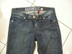 LADIES WOMENS GIRLS GUESS JEANS BOOTCUT SIZE 26 COTTON ELASTINE IN VGC