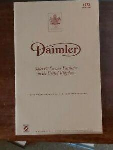 Daimler: Sales and Service Facilities January 1972. Original Address Book for De