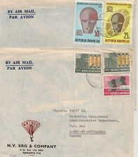 2 COVERS INDONESIA INDONESIE DJAKARTA TO SWEDEN. L509