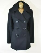 VIVIENNE WESTWOOD 44 Tailored Wool Blend Pleated Military Car Pea Coat Jacket