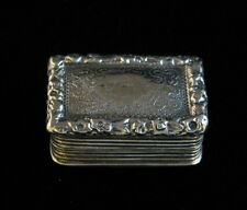 ANTIQUE GEORGIAN STERLING SILVER VINAIGRETTE SNUFF BOX 1825 WILLIAM SIMPSON