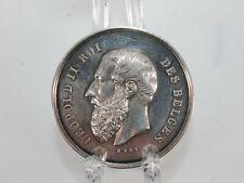 Médaille Leopold II Roi des Belges par Hart Fecit société