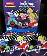 FISHER PRICE DANCE PARTY 2 CD NEW! GET UP AND DANCE, DISCO PARTY 32 SONGS KIDS