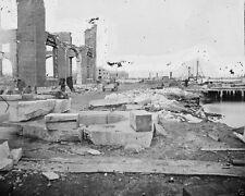 Ruined buildings at Norfolk Navy Yard Virginia 1864 New 8x10 US Civil War Photo