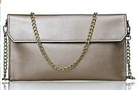 S-ZONE Women's Evening Envelope Leather Clutch Shoulder Purse