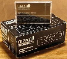 COUNT (10) CASE Maxell CASSETTES 60 Minute Communicator Series NIB NOS (1 SONY)