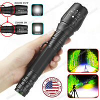 Tactical 350000LM Zoomable Focus High Power LED T6 Flashlight Bright Torch US