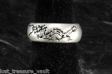 Chinese Dragon Ring Aluminum Metal Size 7.5 Ladies Band Style Jewelry
