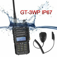 Baofeng GT-3WP + Speaker IP67 Dual Band VHF UHF Ham Two-way Radio Waterproof US