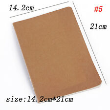 Cowhide Paper Vintage Cover Travel Journal Notebook Blank Notepad OFFCE Supplies 14cm*14cm