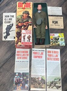 GI Joe Vintage 1964  Action Soldier with Box IN GREAT SHAPE Brown Hair T.M.