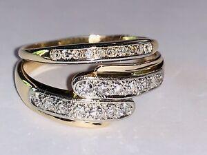 Heavy .40ct VS Yellow Gold Diamond Ring Comb 14K & 18K - Beauty