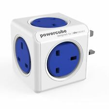 Allocacoc PowerCube 7100/UKORPC UK Plug In Power Adapter 5-Way Socket - Blue